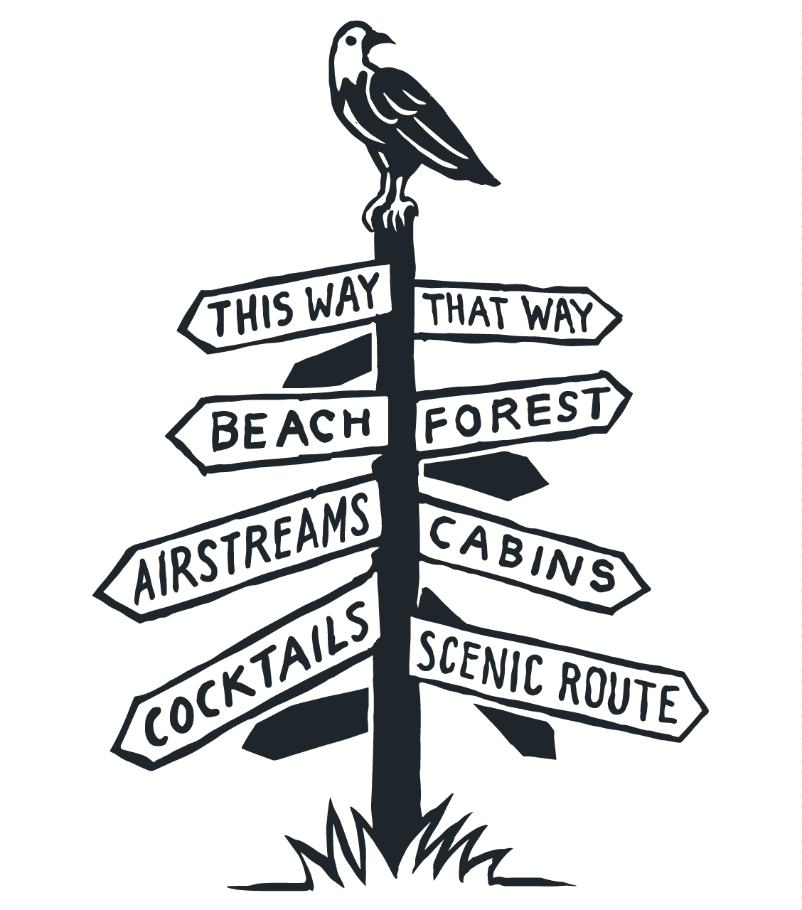 Signpost with Eagle
