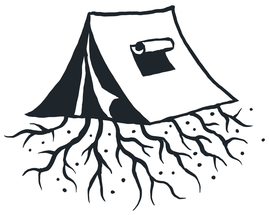 Tent with Roots